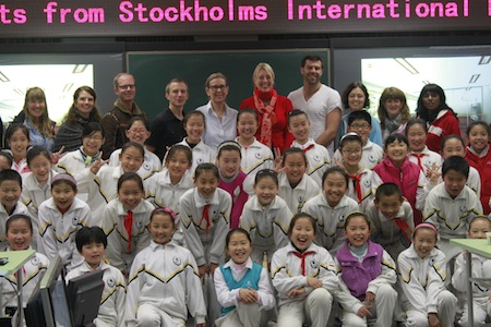 Teachers from STIMS together with Chinese pupils