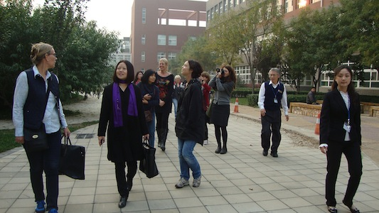 Teachers from STIMS visiting Beijing accompanied by Jinring (Beijing)